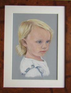 Lily finished framed
